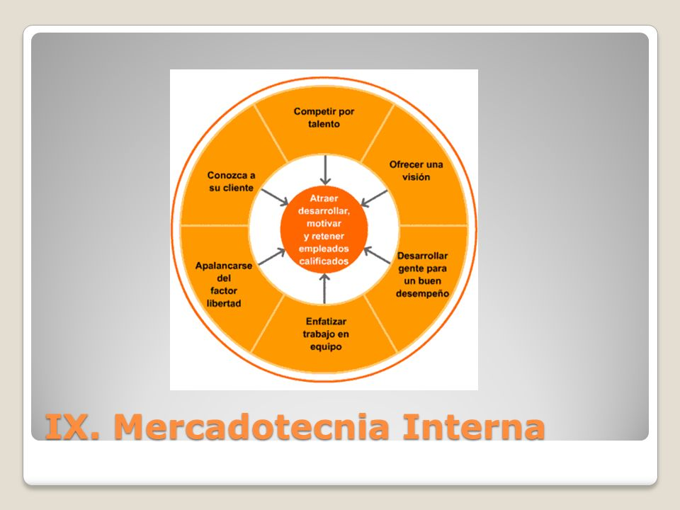 IX. Mercadotecnia Interna