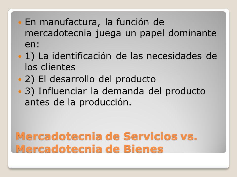 Mercadotecnia de Servicios vs. Mercadotecnia de Bienes