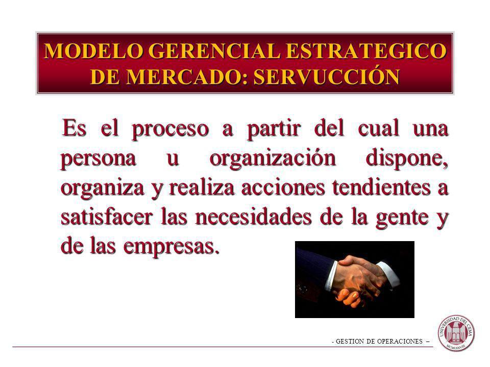 MODELO GERENCIAL ESTRATEGICO DE MERCADO: SERVUCCIÓN