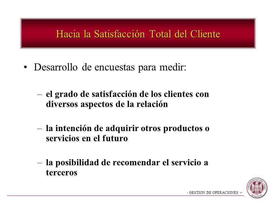 Hacia la Satisfacción Total del Cliente