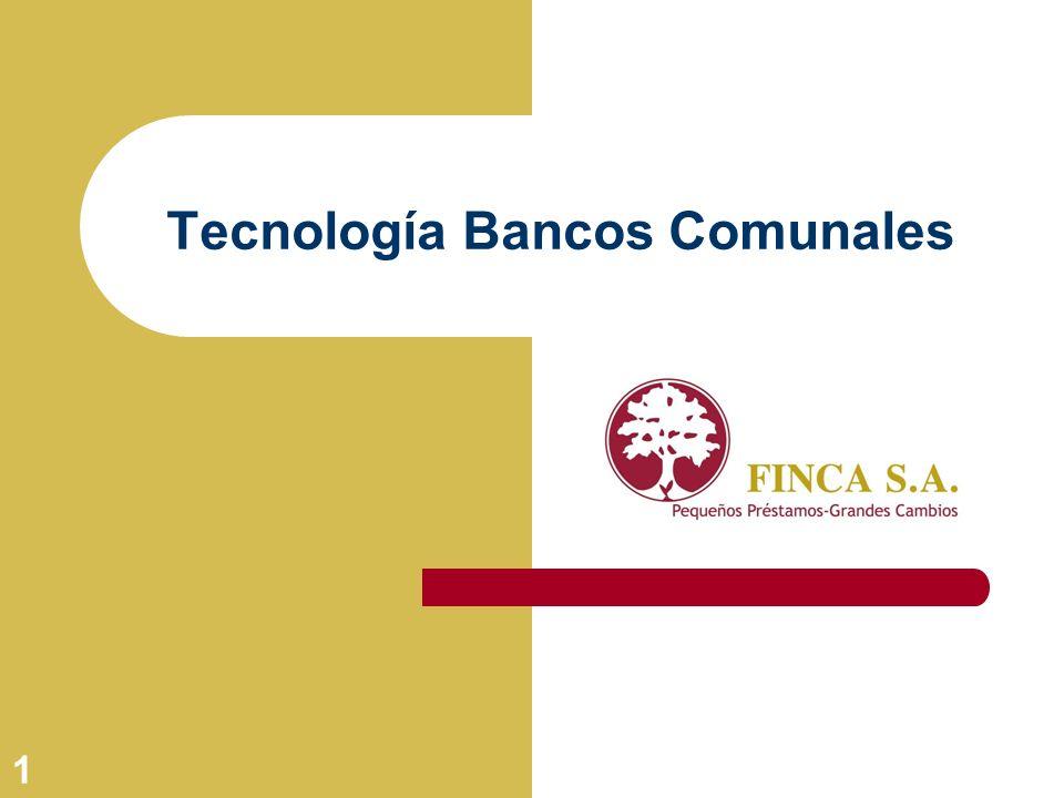 Tecnología Bancos Comunales