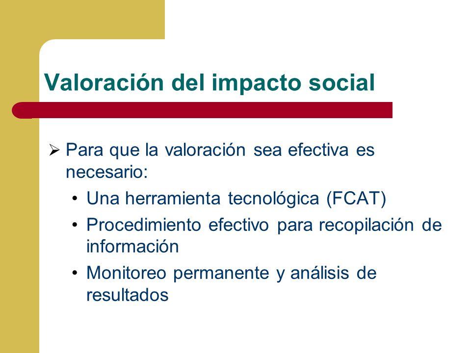 Valoración del impacto social