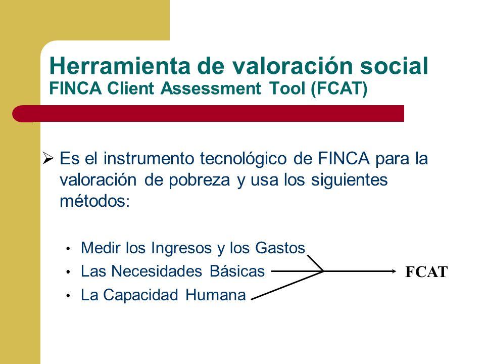 Herramienta de valoración social FINCA Client Assessment Tool (FCAT)