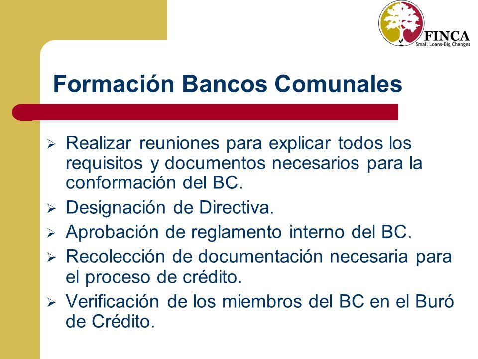 Formación Bancos Comunales