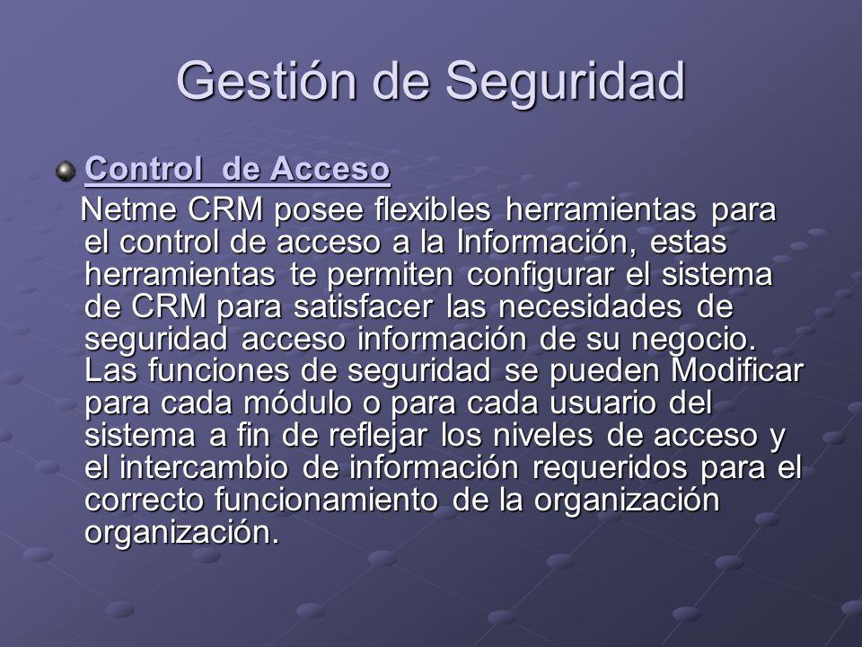 Gestión de Seguridad Control de Acceso