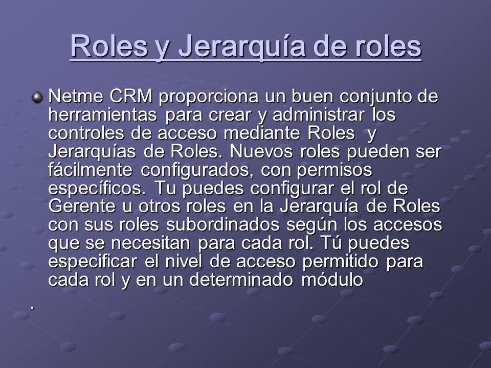 Roles y Jerarquía de roles