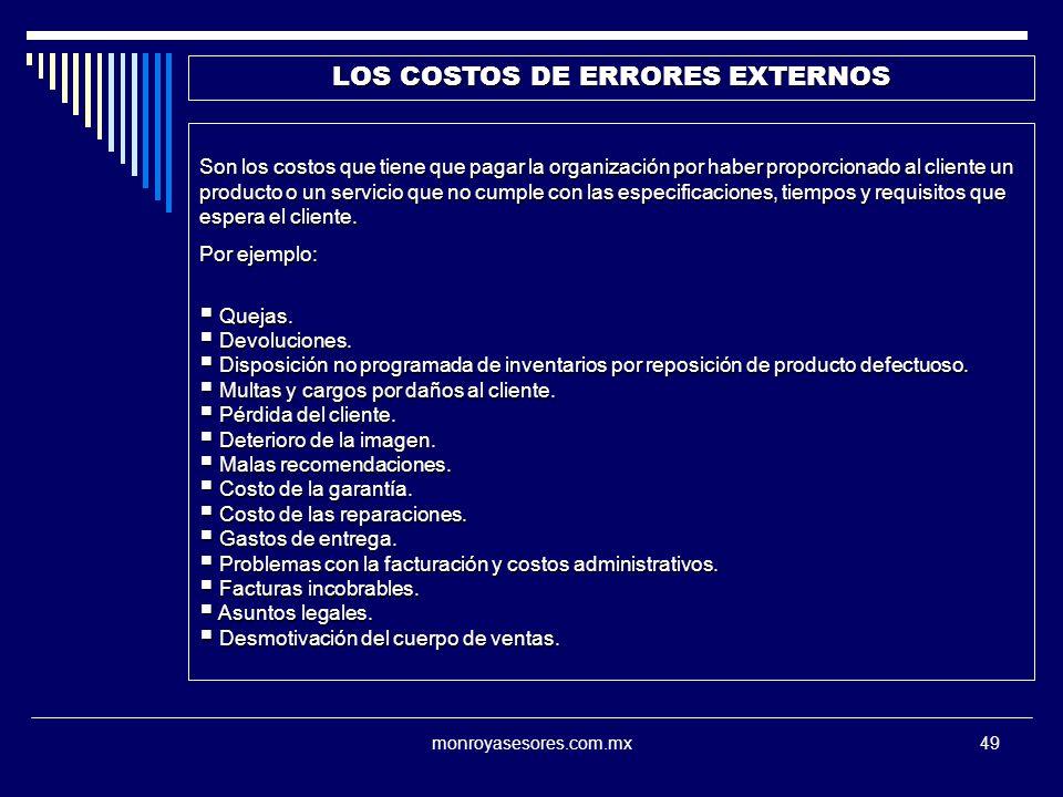 LOS COSTOS DE ERRORES EXTERNOS