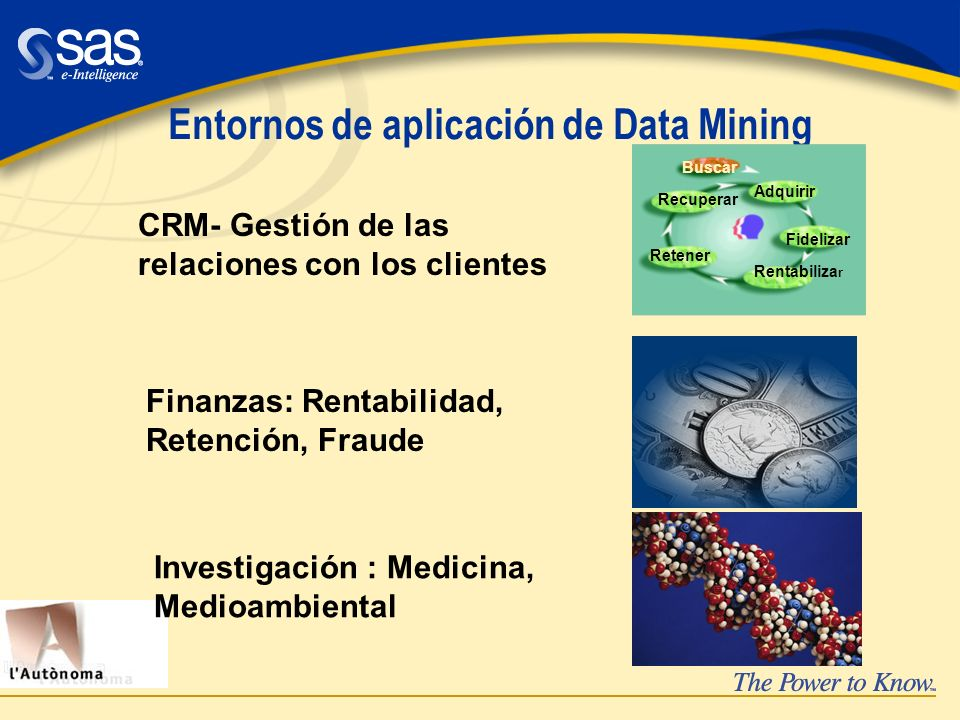 Entornos de aplicación de Data Mining