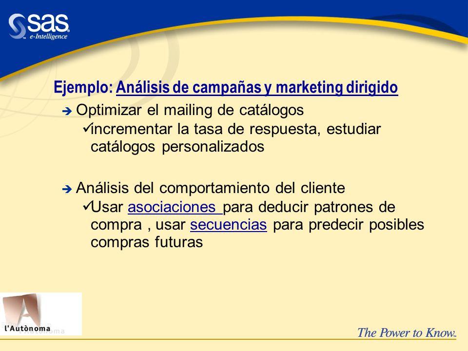 Ejemplo: Análisis de campañas y marketing dirigido