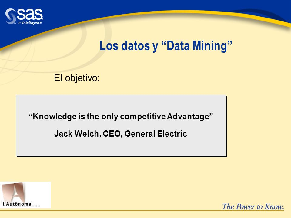 Los datos y Data Mining