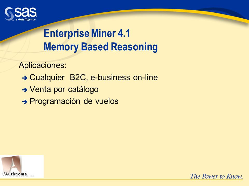 Enterprise Miner 4.1 Memory Based Reasoning