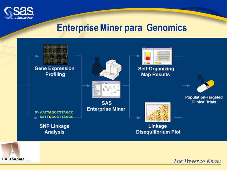 Enterprise Miner para Genomics