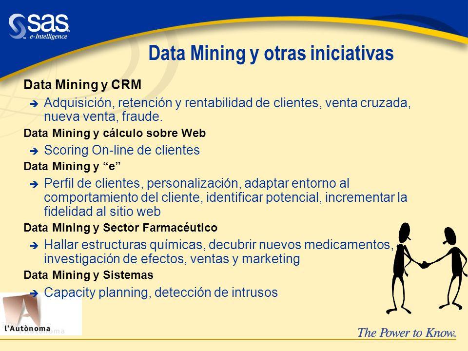 Data Mining y otras iniciativas