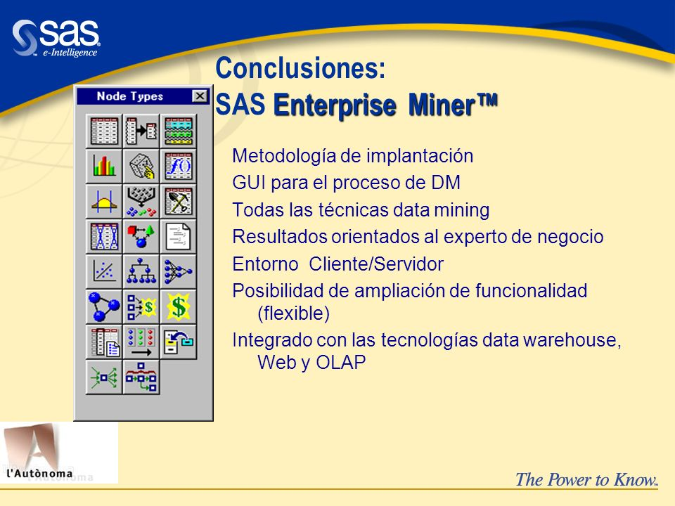 Conclusiones: SAS Enterprise Miner™