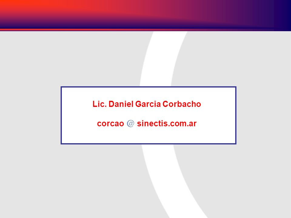 Lic. Daniel Garcia Corbacho
