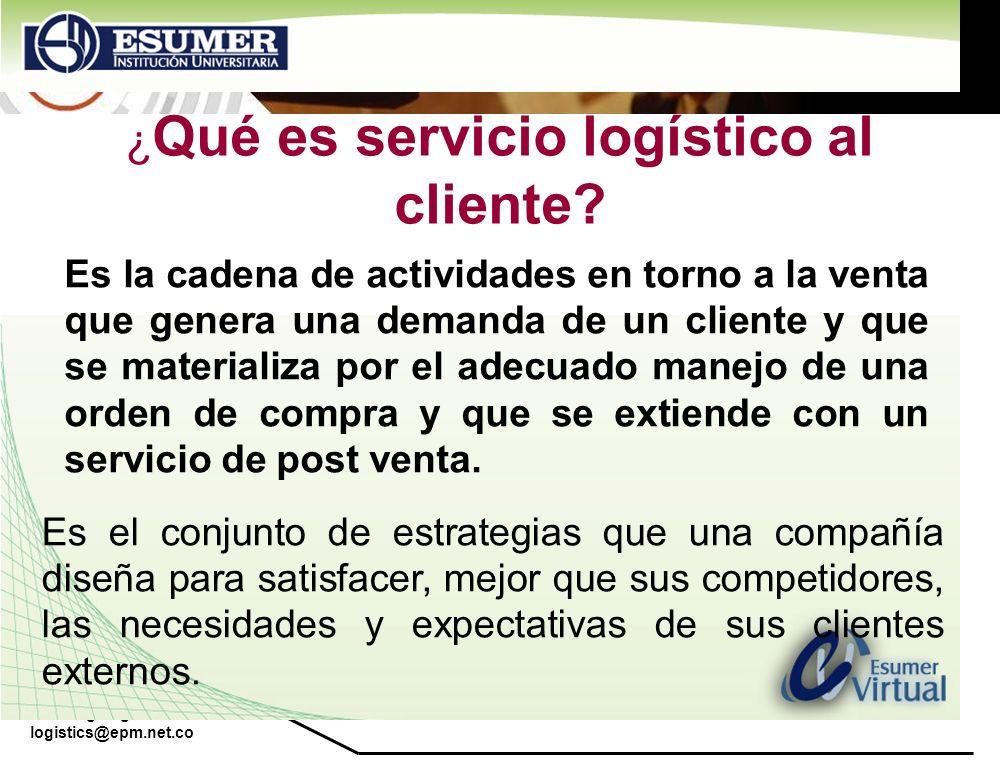 ¿Qué es servicio logístico al cliente
