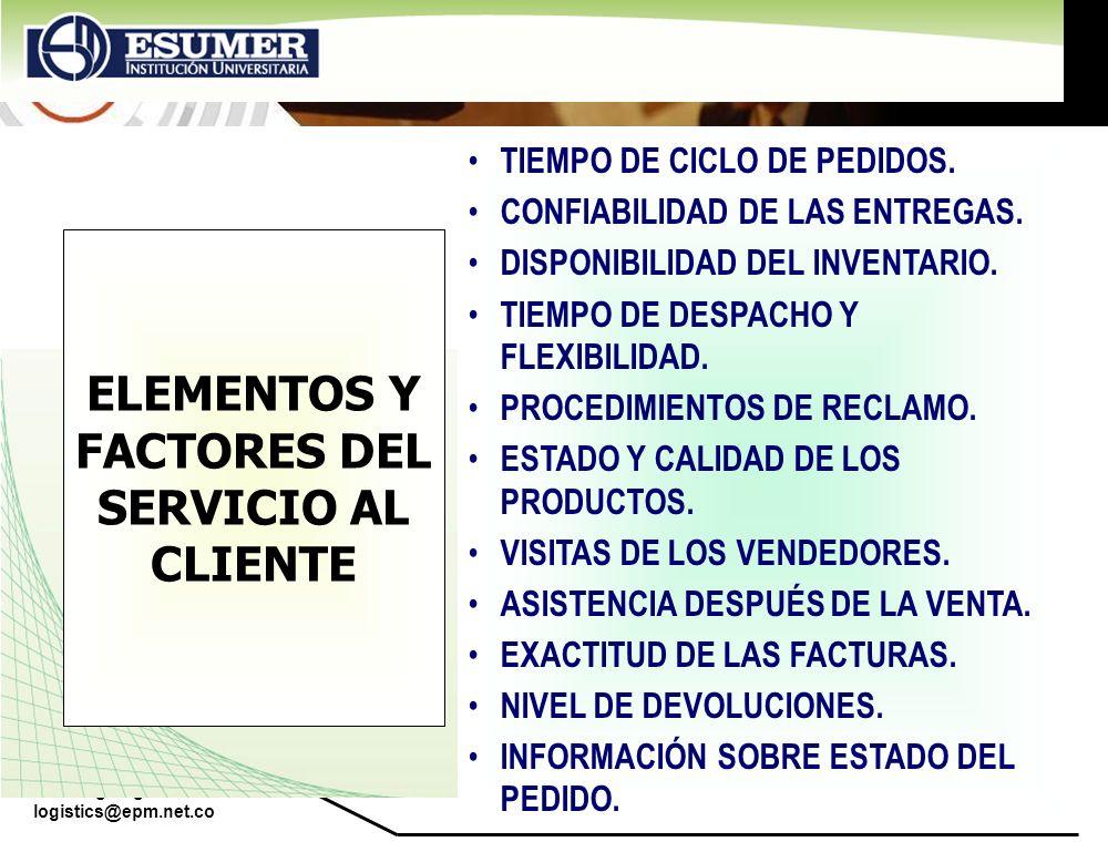 ELEMENTOS Y FACTORES DEL SERVICIO AL CLIENTE