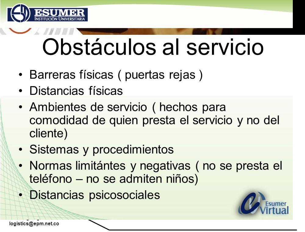 Obstáculos al servicio