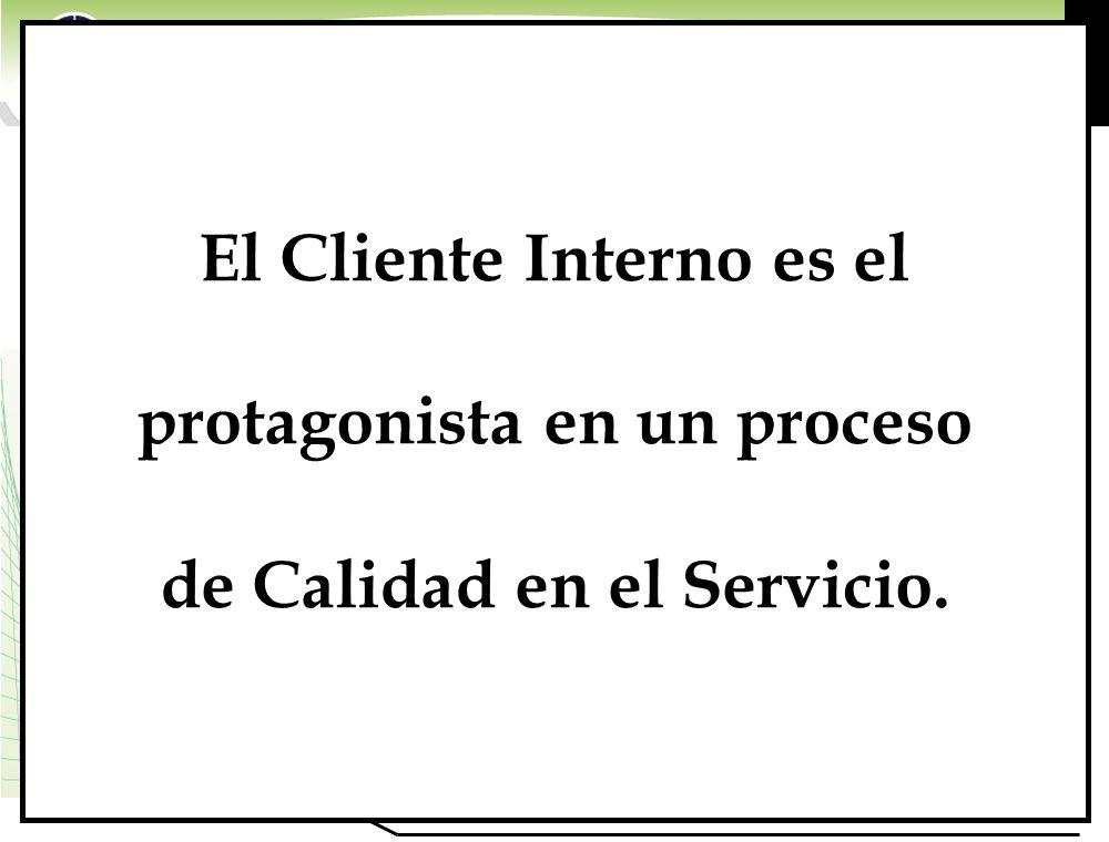 El Cliente Interno es el protagonista en un proceso de Calidad en el Servicio.