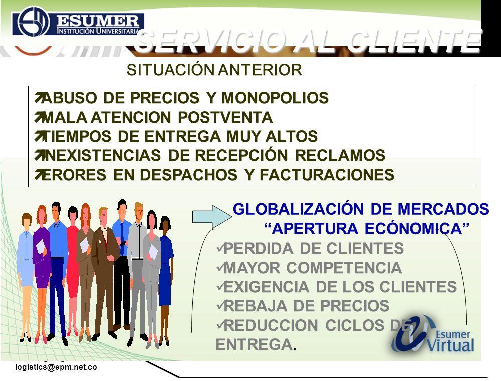 SERVICIO AL CLIENTE SITUACIÓN ANTERIOR ABUSO DE PRECIOS Y MONOPOLIOS