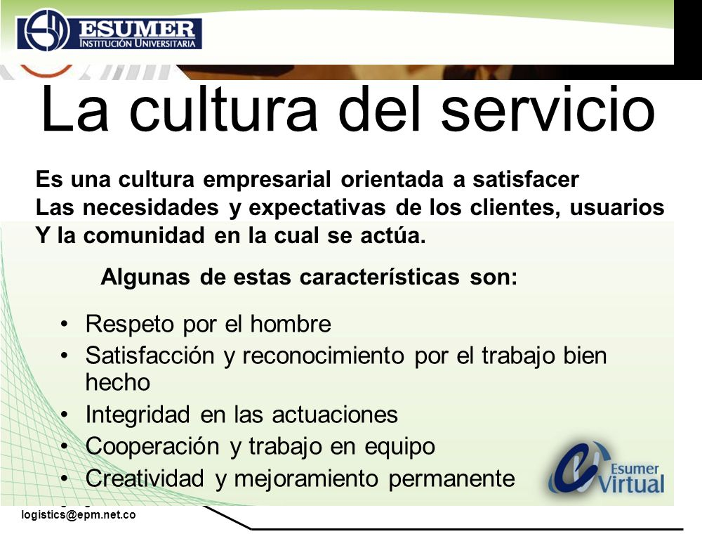 La cultura del servicio