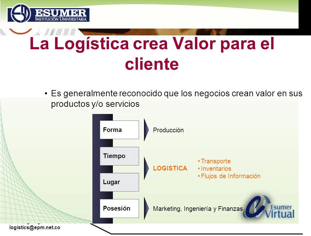 La Logística crea Valor para el cliente