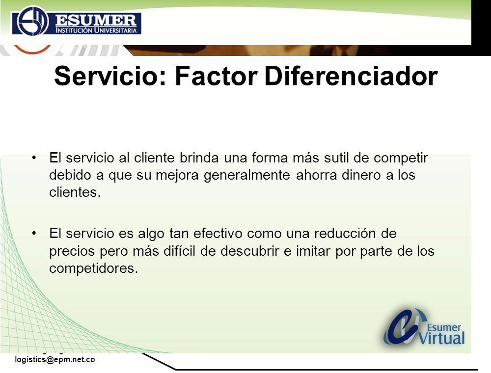 Servicio: Factor Diferenciador