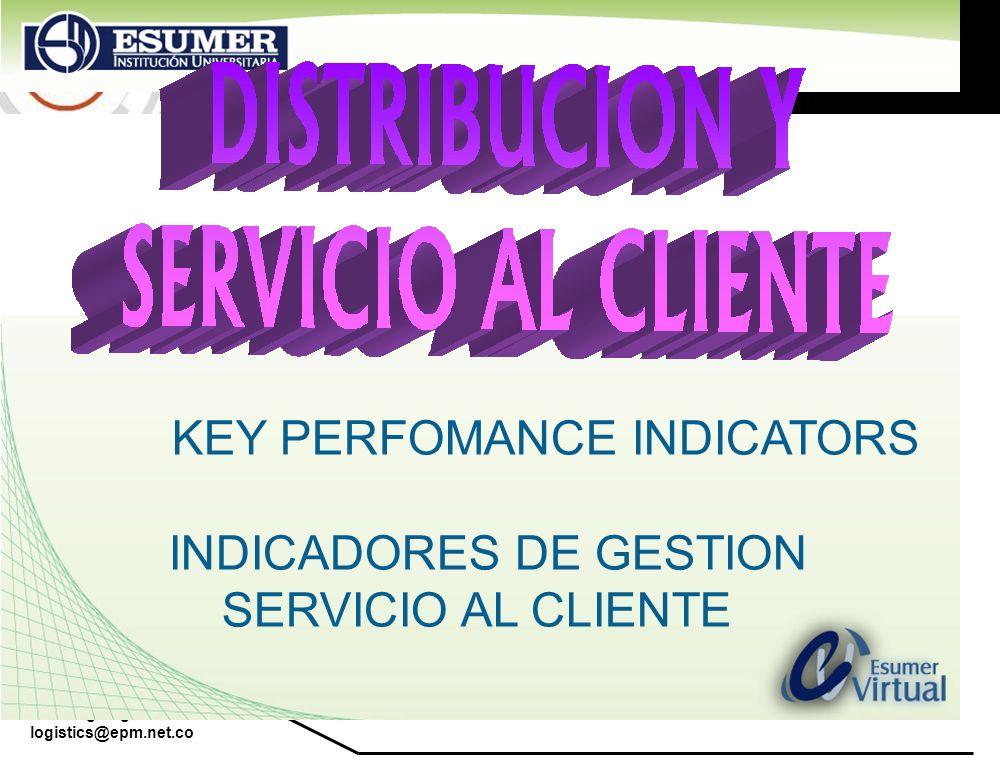KEY PERFOMANCE INDICATORS INDICADORES DE GESTION SERVICIO AL CLIENTE