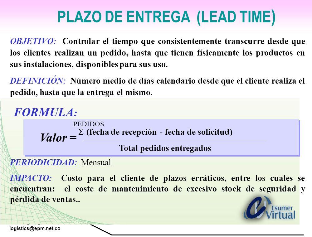 PLAZO DE ENTREGA (LEAD TIME)