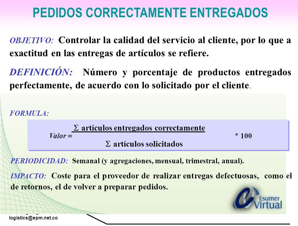 PEDIDOS CORRECTAMENTE ENTREGADOS