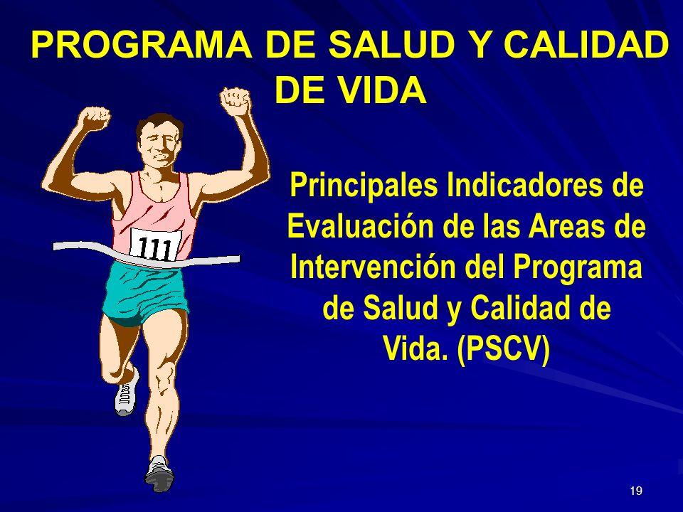 PROGRAMA DE SALUD Y CALIDAD DE VIDA