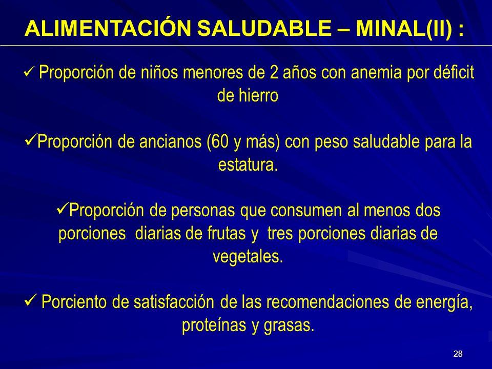 ALIMENTACIÓN SALUDABLE – MINAL(ll) :