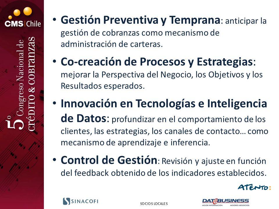 Gestión Preventiva y Temprana: anticipar la gestión de cobranzas como mecanismo de administración de carteras.