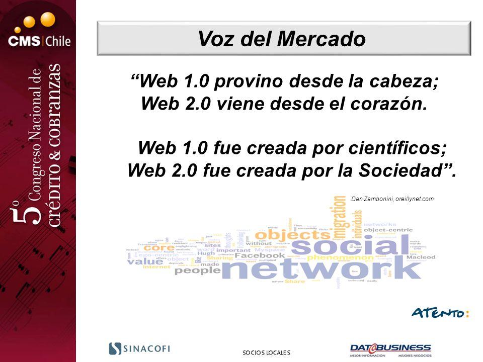 Voz del Mercado Web 1.0 provino desde la cabeza;