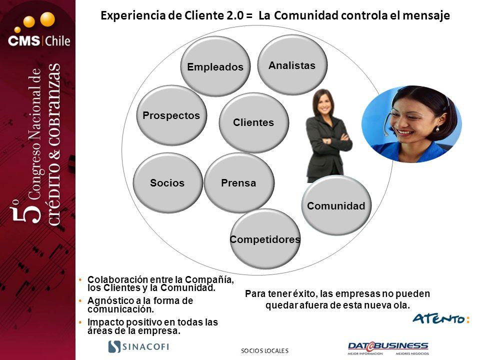 Experiencia de Cliente 2.0 = La Comunidad controla el mensaje