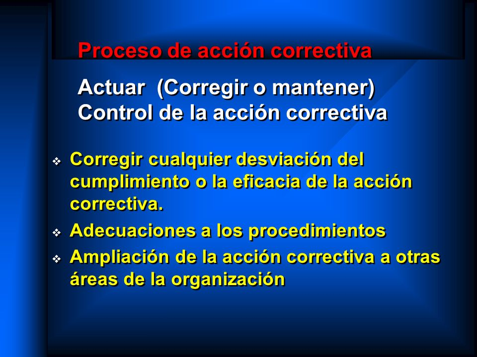 Adecuaciones a los procedimientos
