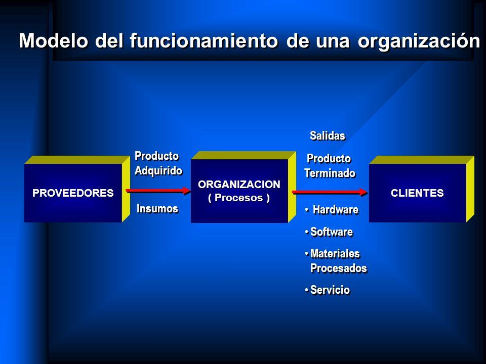 Modelo del funcionamiento de una organización