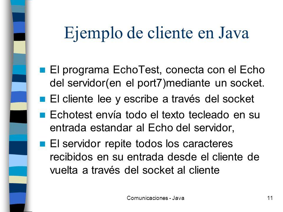 Ejemplo de cliente en Java