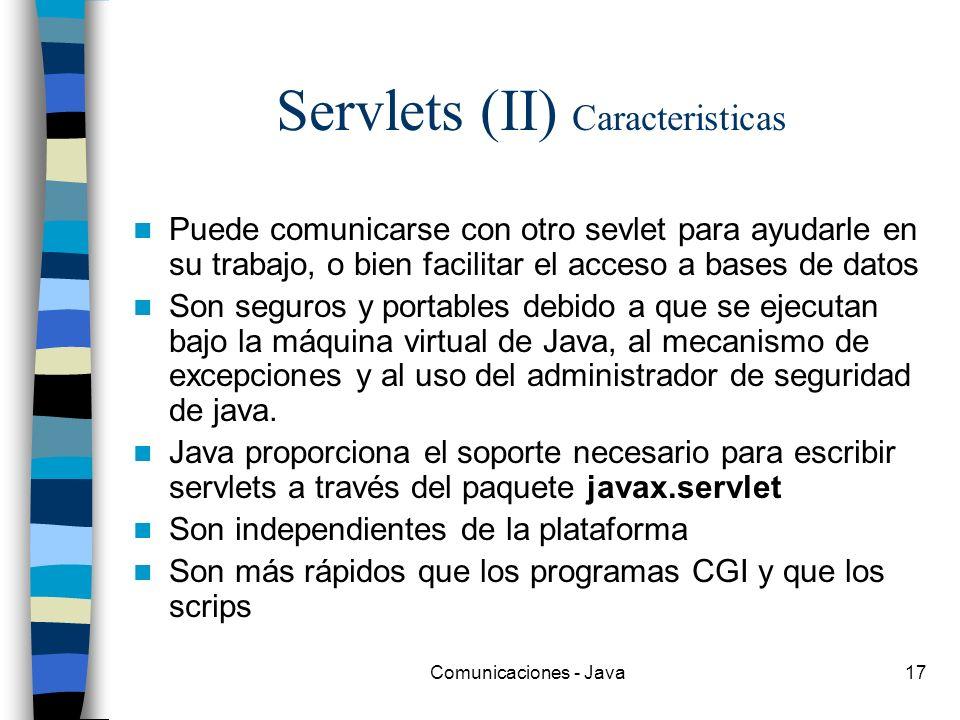Servlets (II) Caracteristicas