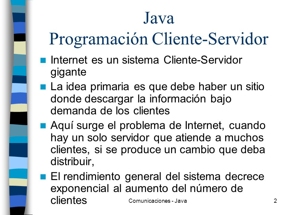 Java Programación Cliente-Servidor