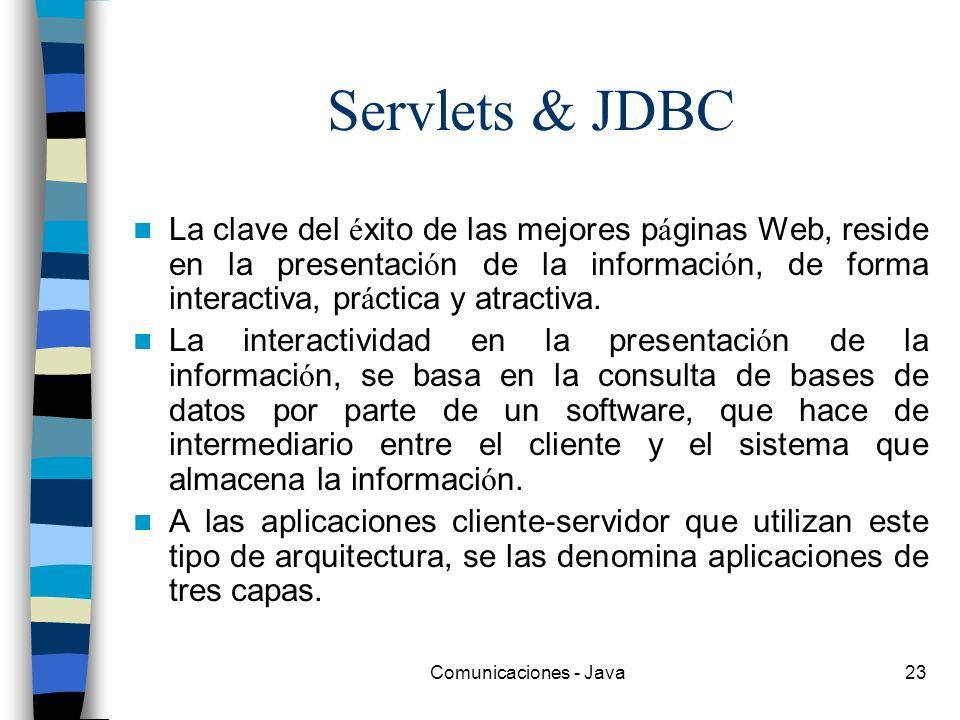 Servlets & JDBC