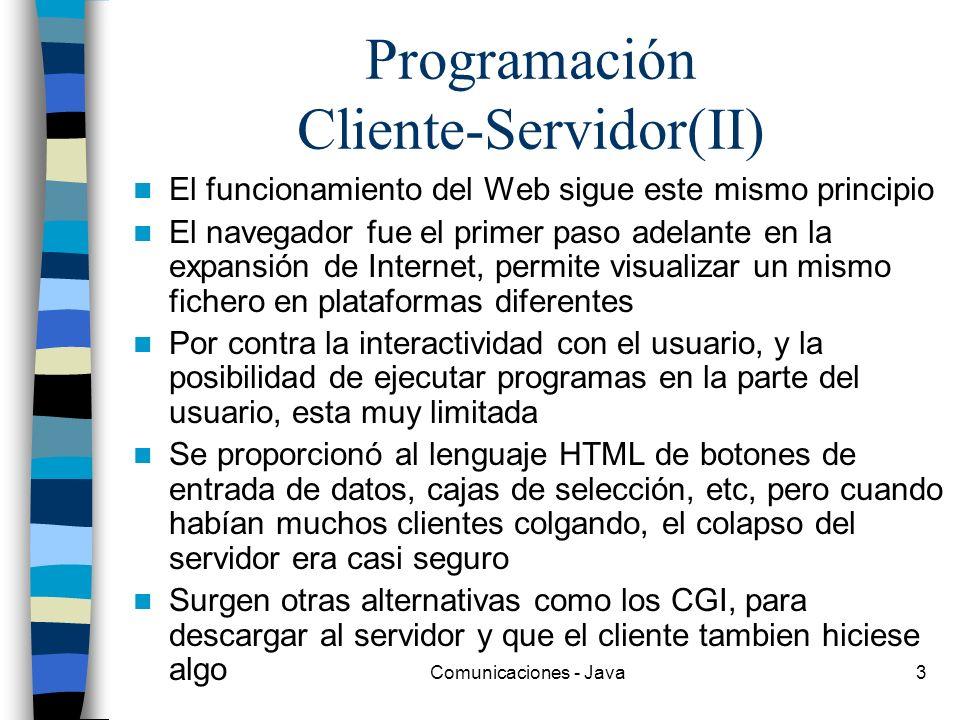 Programación Cliente-Servidor(II)