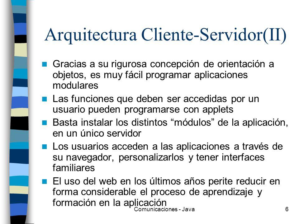 Arquitectura Cliente-Servidor(II)