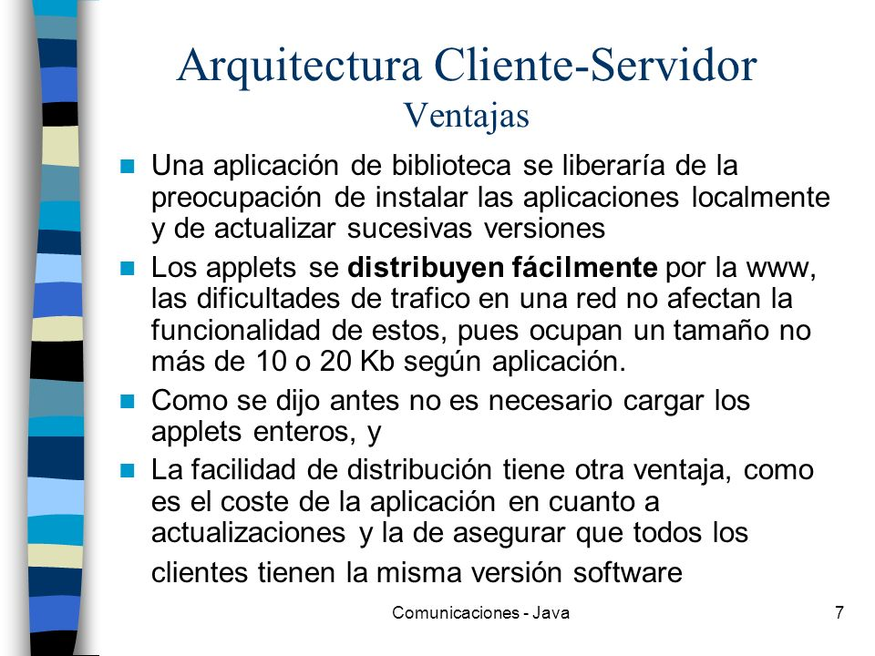 Arquitectura Cliente-Servidor Ventajas