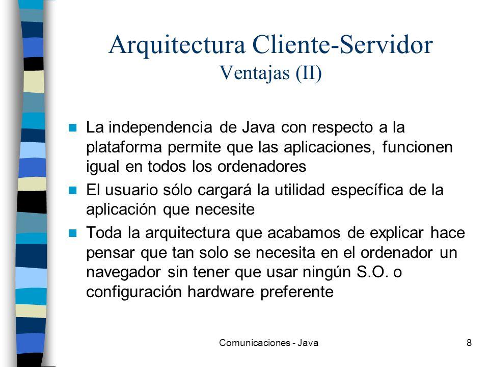 Arquitectura Cliente-Servidor Ventajas (II)