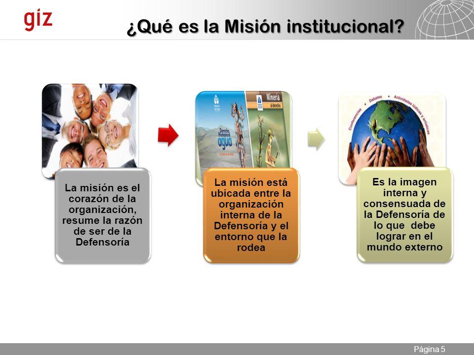 ¿Qué es la Misión institucional