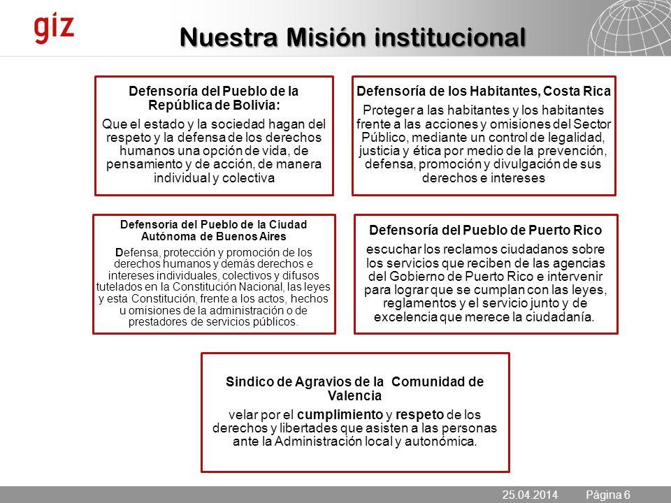Nuestra Misión institucional
