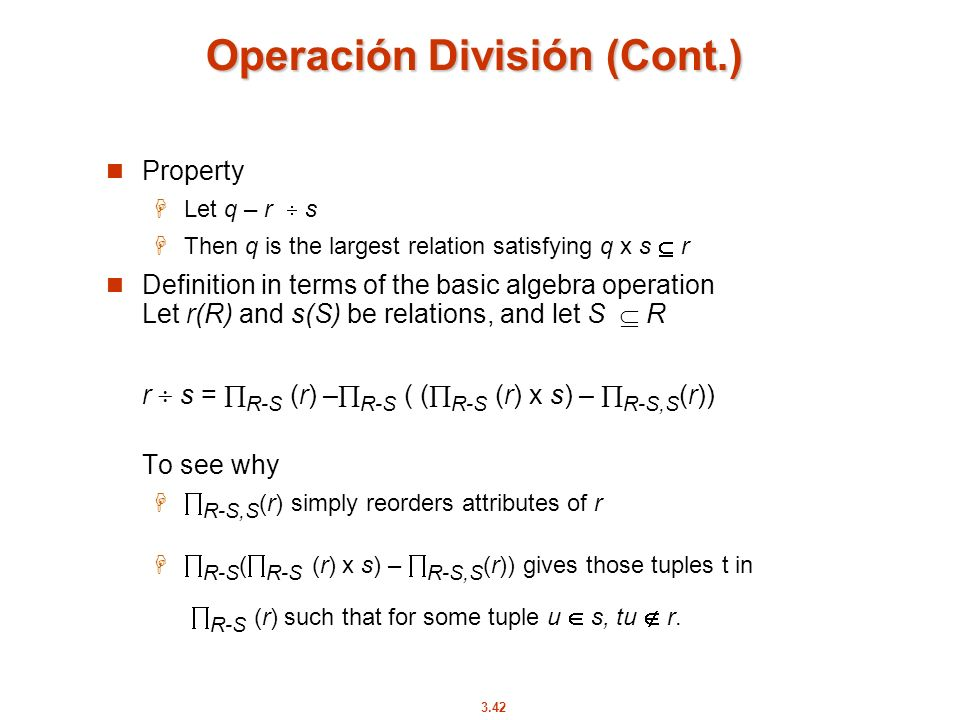 Operación División (Cont.)