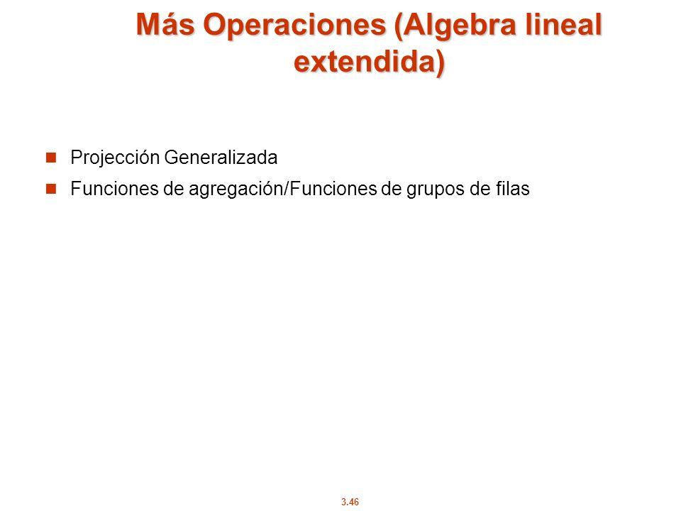 Más Operaciones (Algebra lineal extendida)