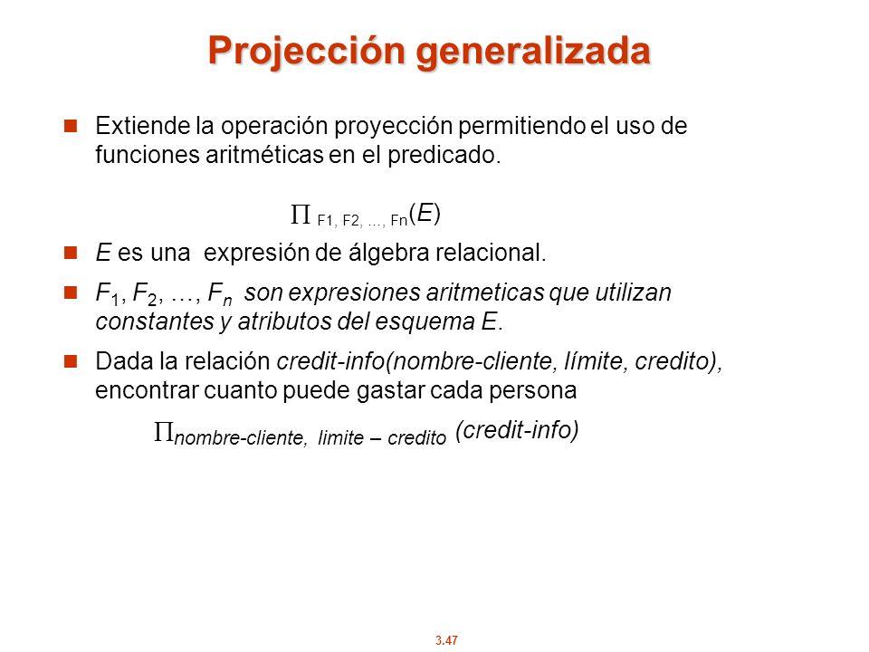 Projección generalizada